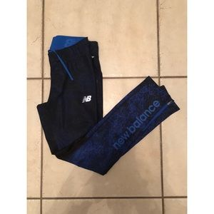 Blue Patterned New Balance Workout Pants